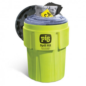 PIG-Notfall-Kits in auffälligen 360-l-Behältern