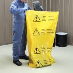 Mehrsprachige Polyethylen-Einwegbeutel