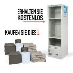 PIG® Universalabsorptionsmittel-Doppelpack mit KOSTENLOSEM Spill-Stationsschrank