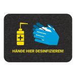 PIG® Grippy® Desinfektionsstation Bodenschild